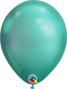 balon chrome zielony