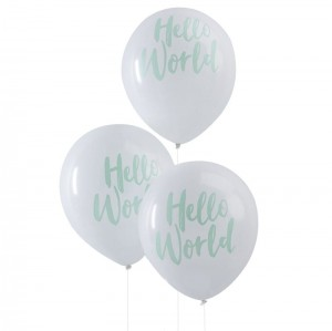 balon nadruk Hello World